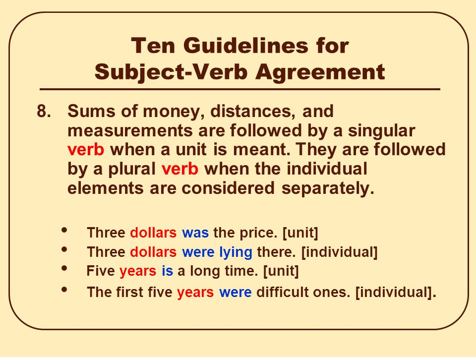 Subject Verb Agreement Ppt Video Online Download