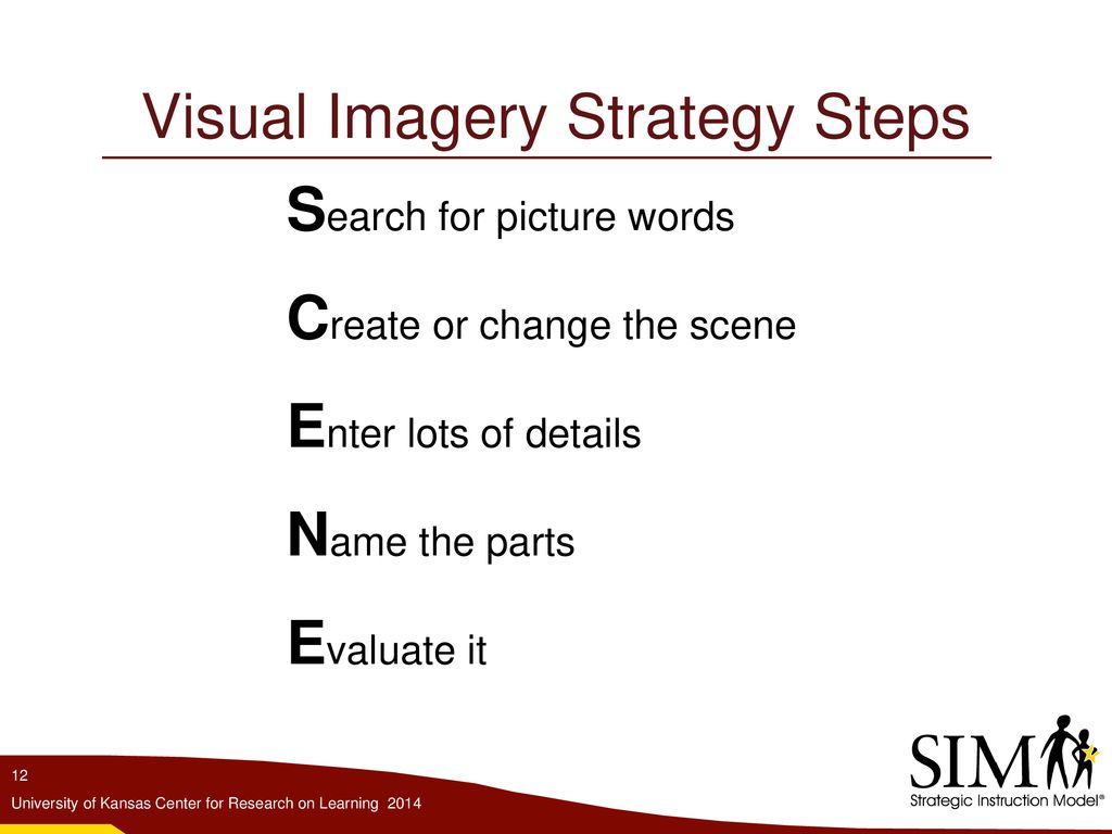 The Visual Imagery Strategy - ppt download