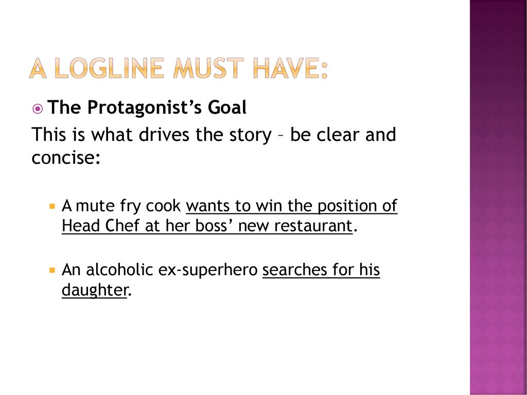 Film Loglines Selling the Concept  - ppt download