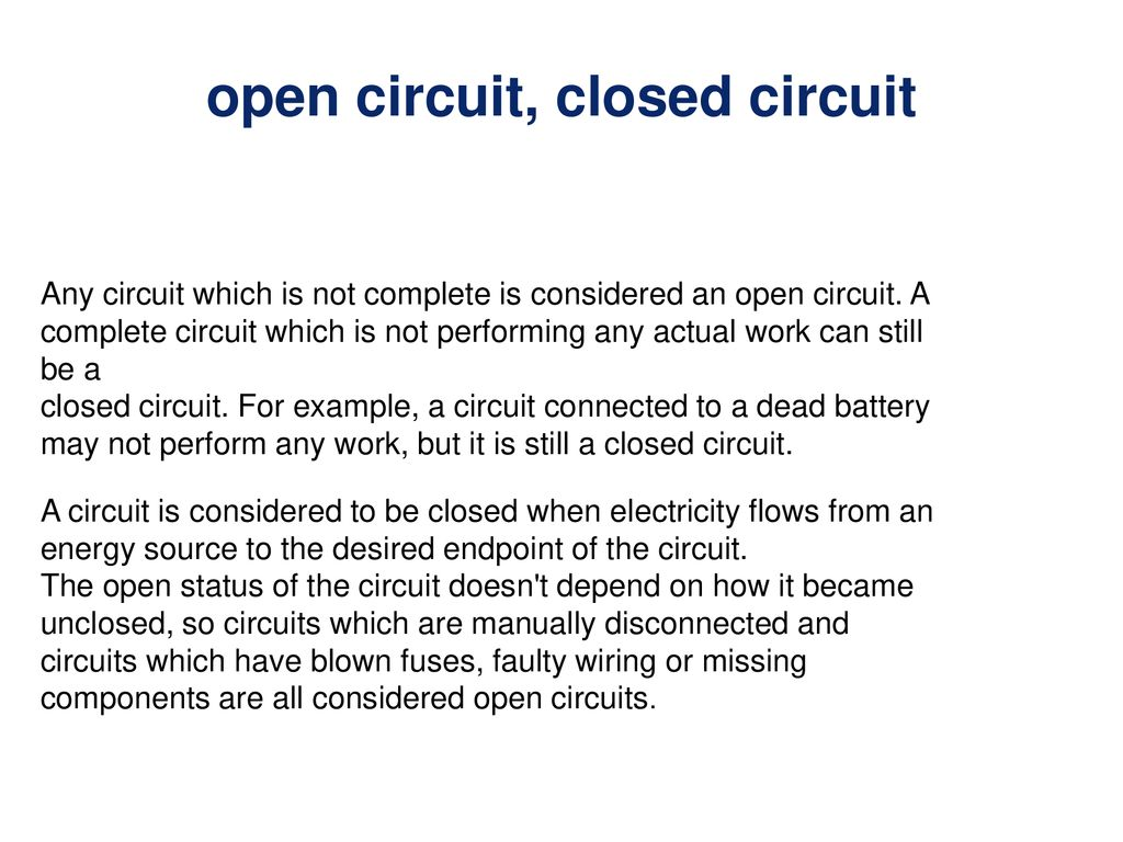 212 Parallel Circuits In The Current Can Take Wiring Open Circuit 3