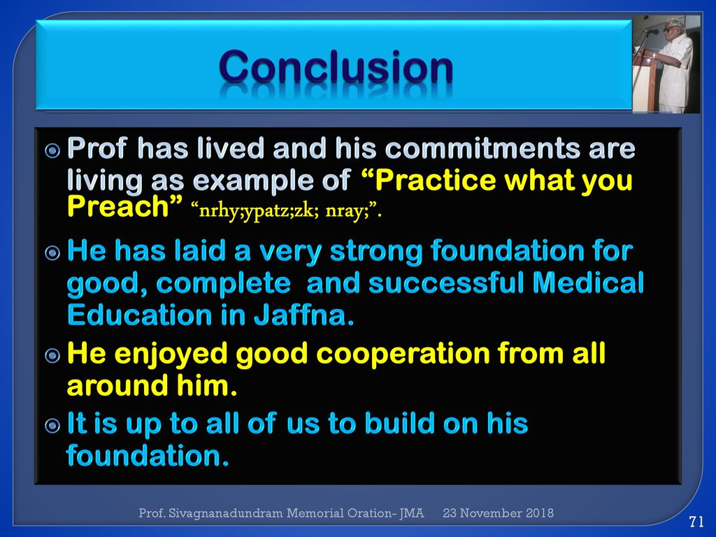 example of oration about education