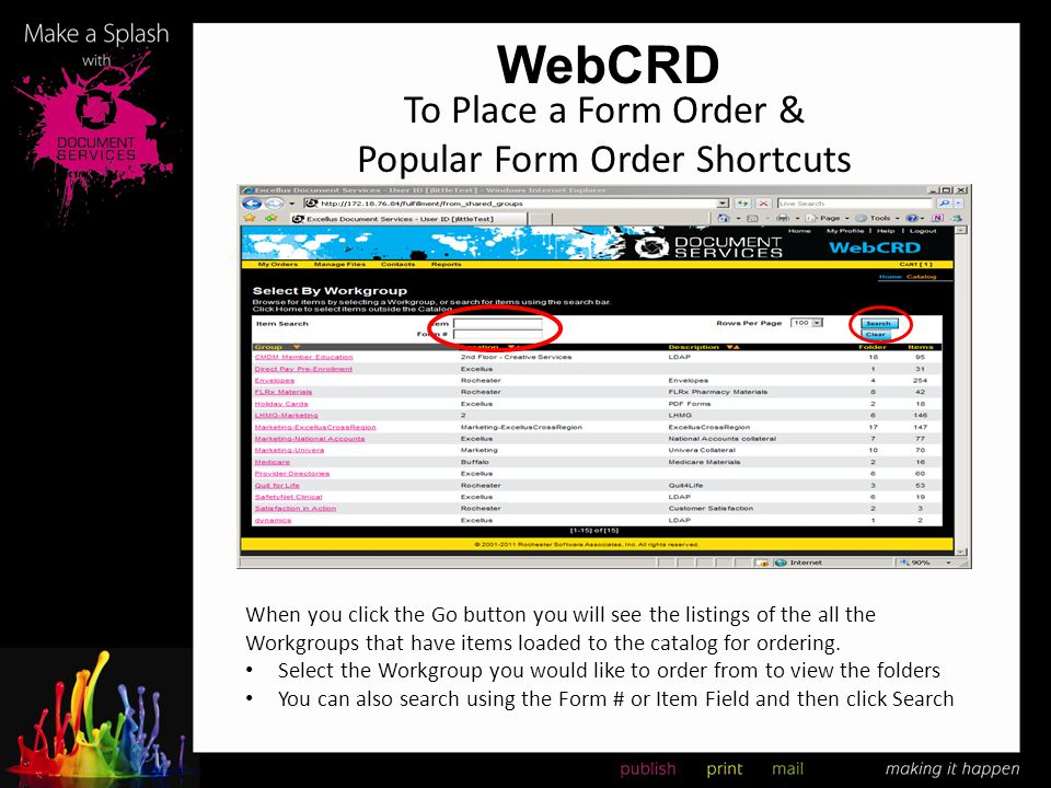 To Place a Form Order & Popular Form Order Shortcuts