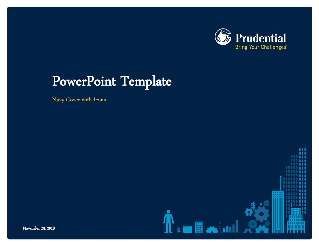 powerpoint template navy cover with icons ppt download