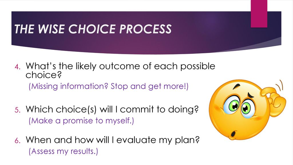 wise choice process