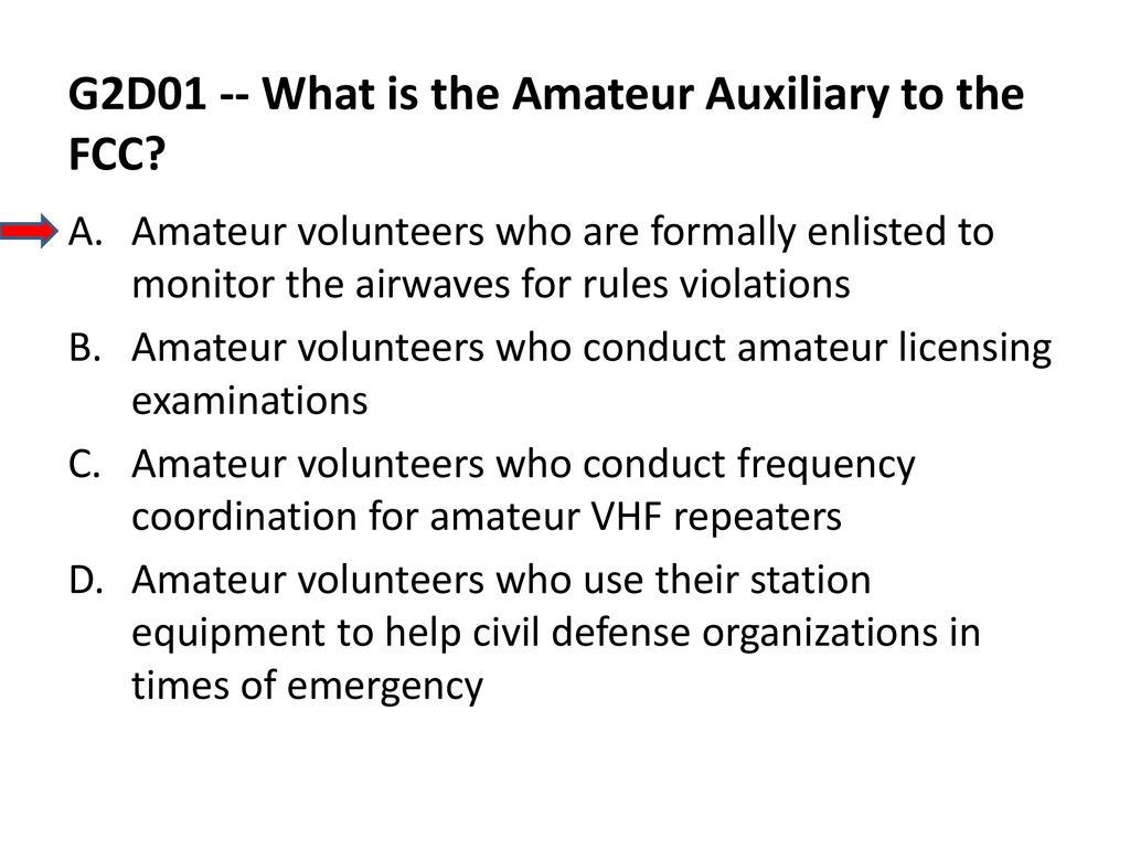 Amateur auxiliary of the fcc