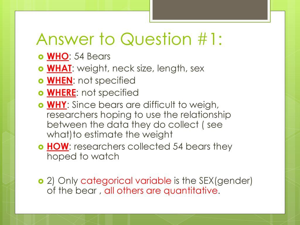 7 Answer ...