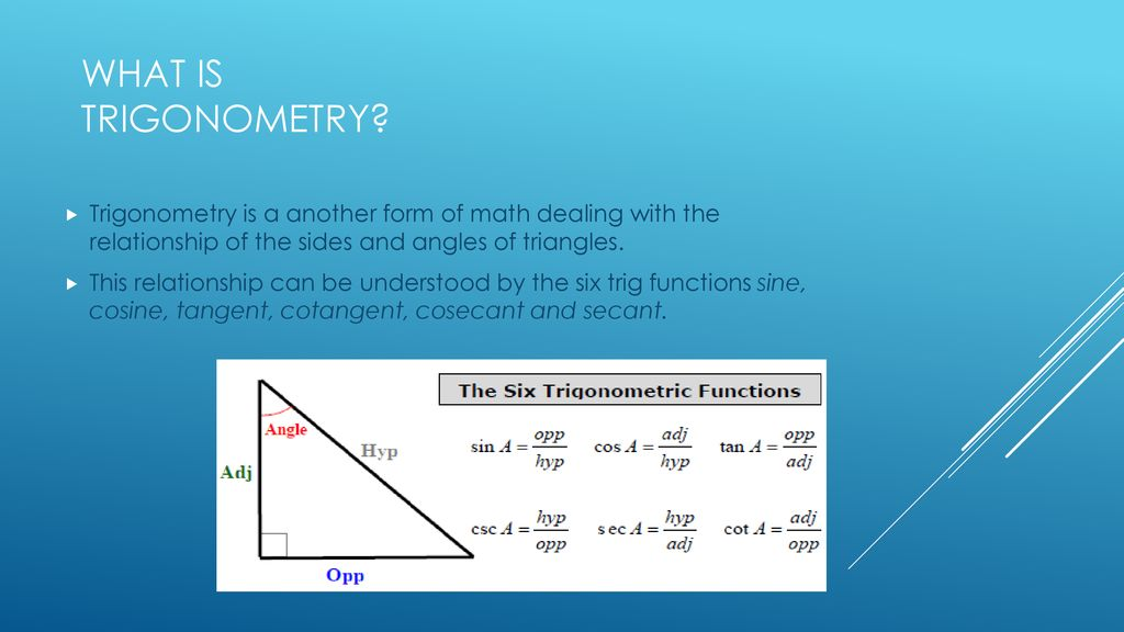 Applications of Trigonometry In Real Life - ppt download