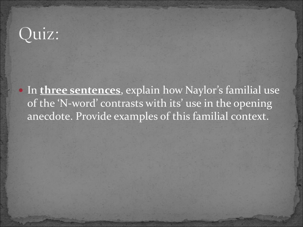the meanings of a word by gloria naylor