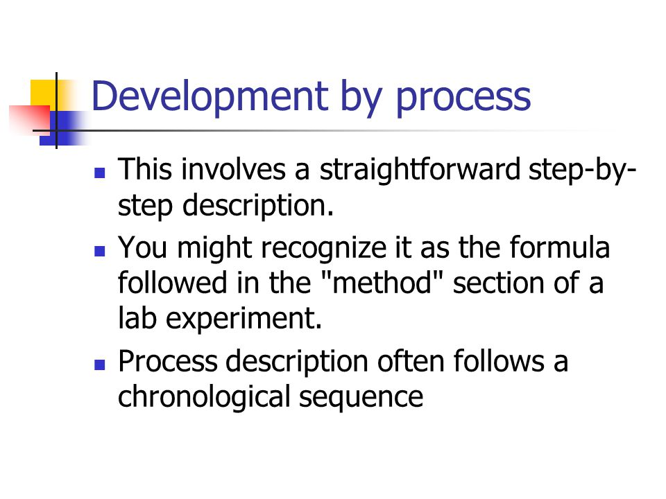 Development by process