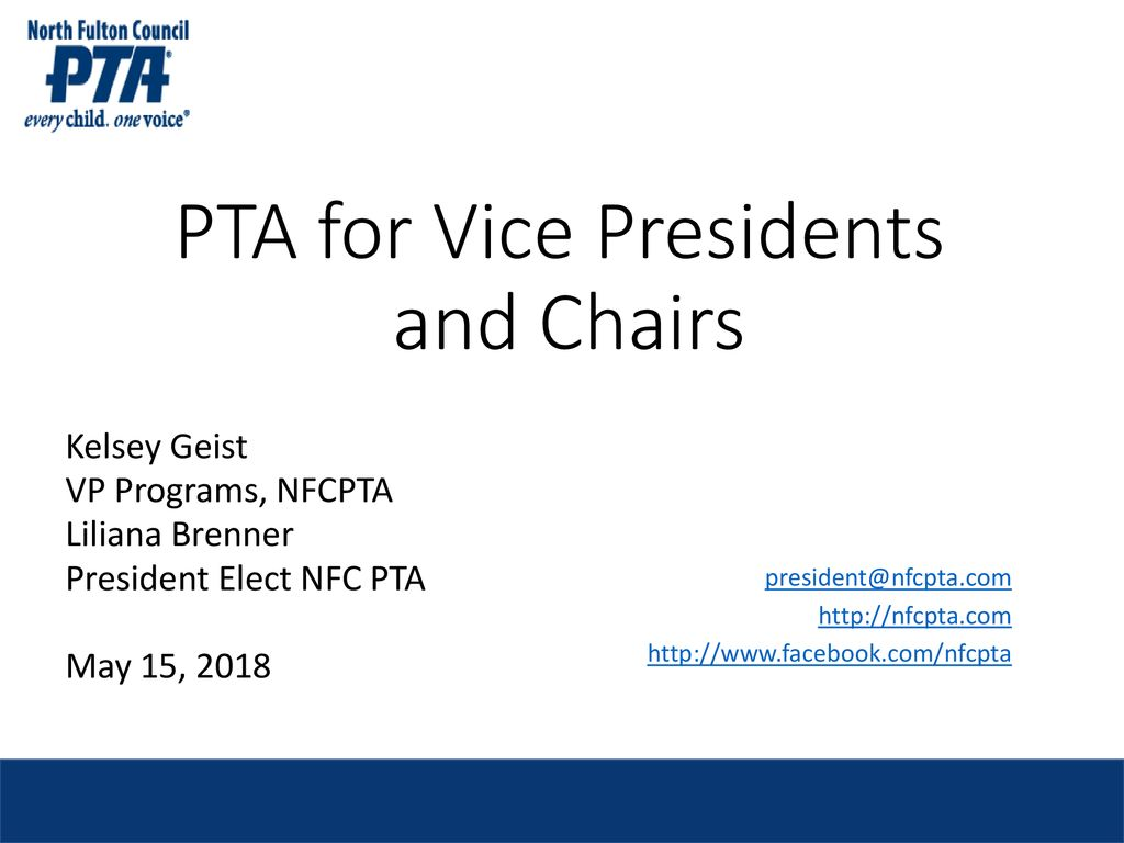 PTA for Vice Presidents and Chairs - ppt download