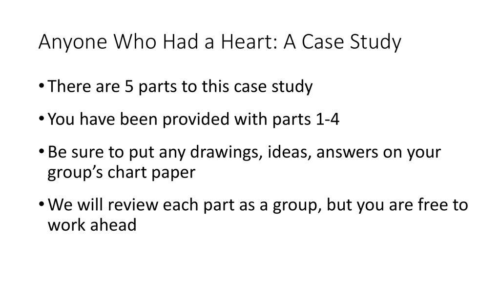 parts of a case study paper