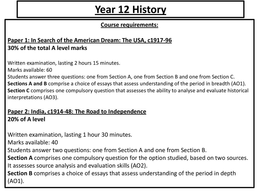 a level history course content   ppt download year  history course requirements