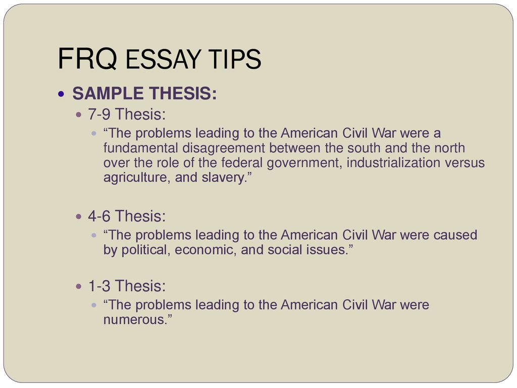 English Essay Friendship  Frq  A Healthy Mind In A Healthy Body Essay also Political Science Essays Writing The Ap Us History Free Response Question Frq  Ppt Download Learning English Essay Writing