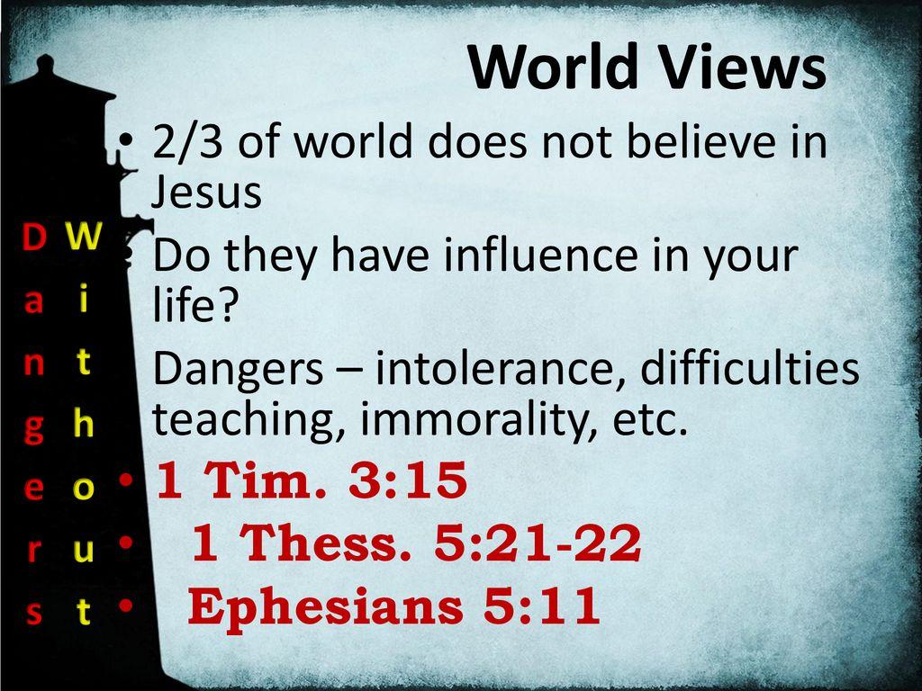 Dangers Facing The Church