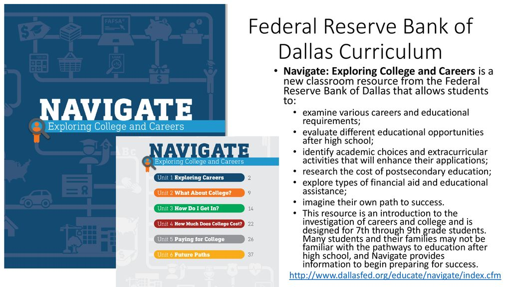 Federal Reserve Bank of Dallas Curriculum - ppt download