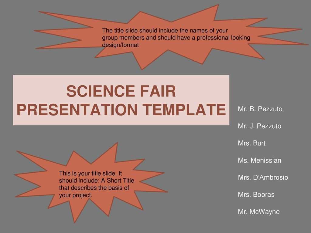 science fair presentation template ppt download