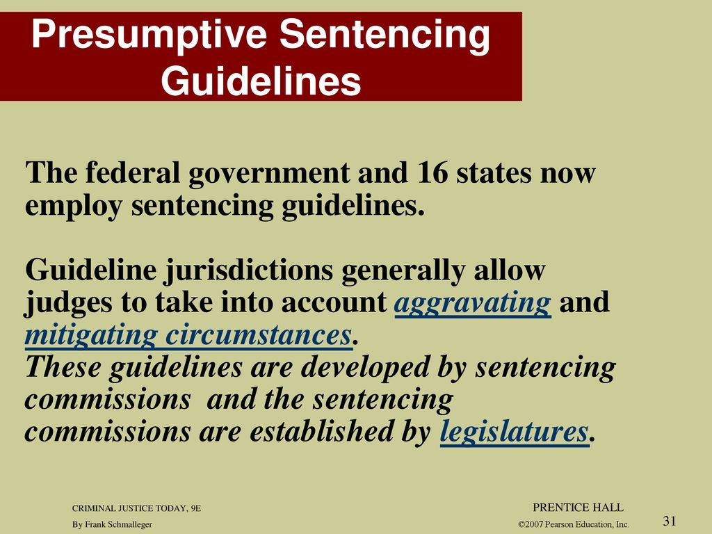 11 Sentencing CHAPTER CRIMINAL JUSTICE TODAY 9E PRENTICE HALL
