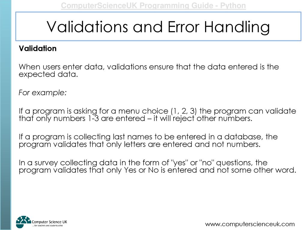 Validations And Error Handling Ppt Download