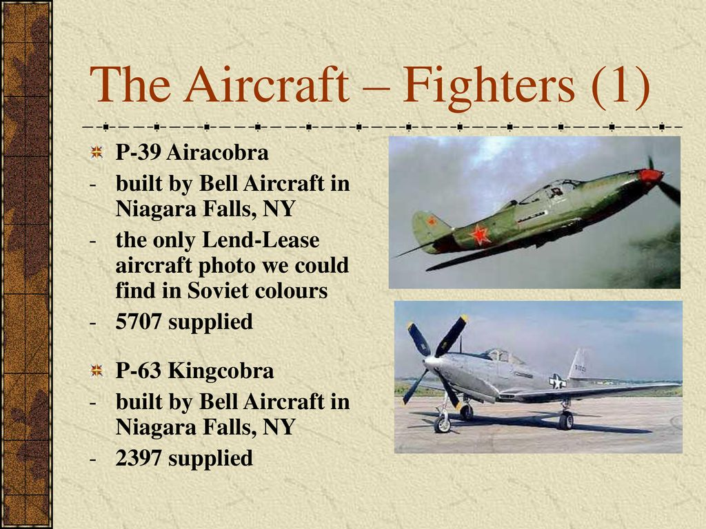 The Aircraft – Fighters (1)