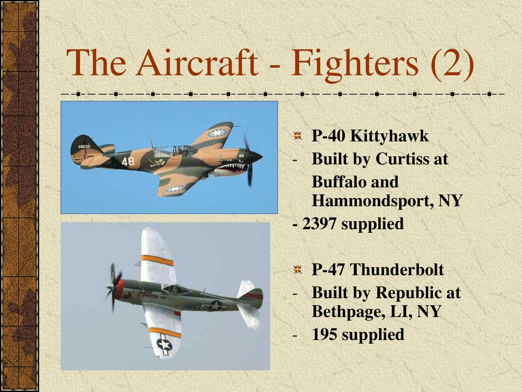 The Aircraft - Fighters (2)