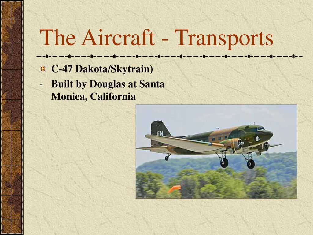 The Aircraft - Transports