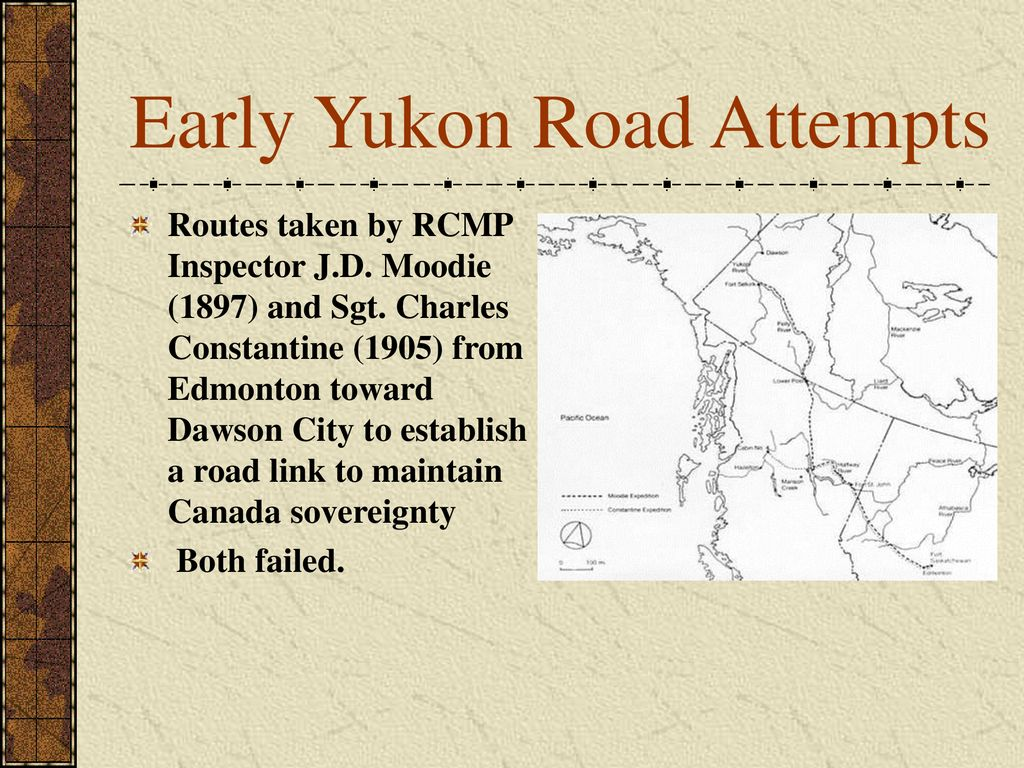 Early Yukon Road Attempts
