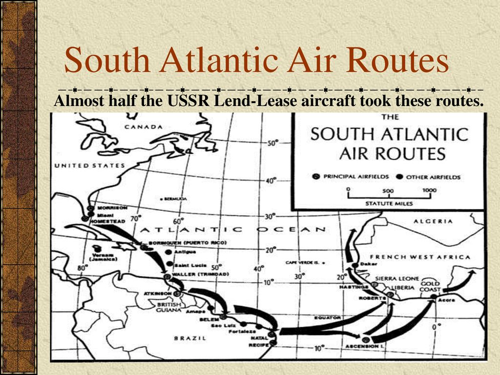 South Atlantic Air Routes