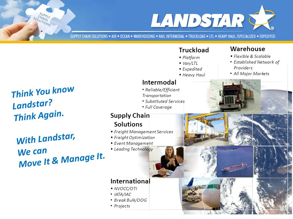Think You know Landstar Think Again. With Landstar, We can