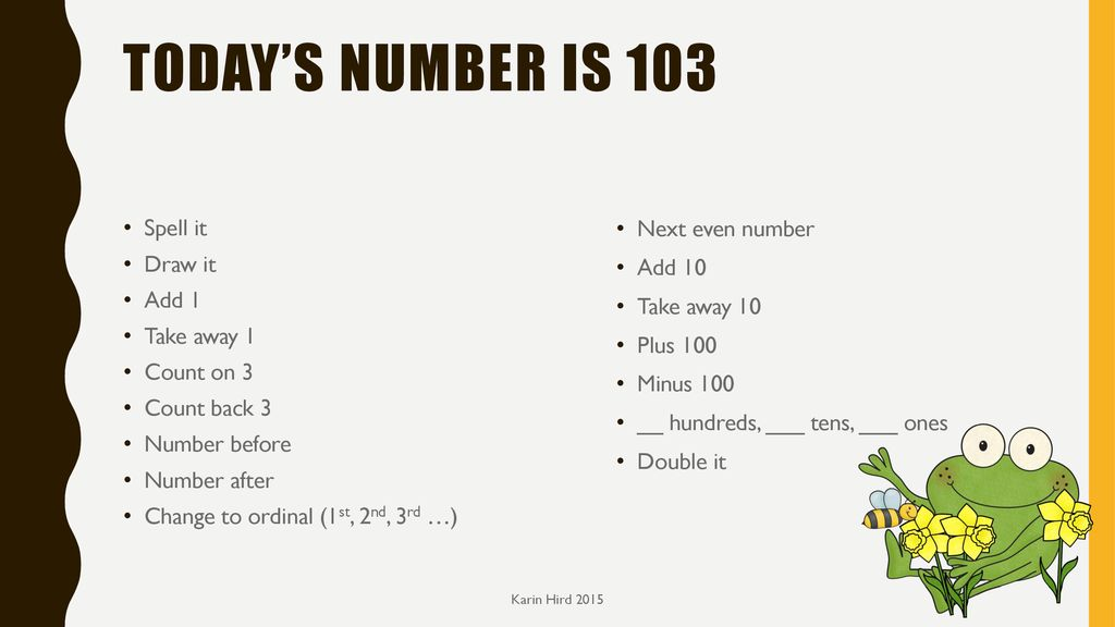 Number of the day Year 2 term 3 Karin Hird ppt download