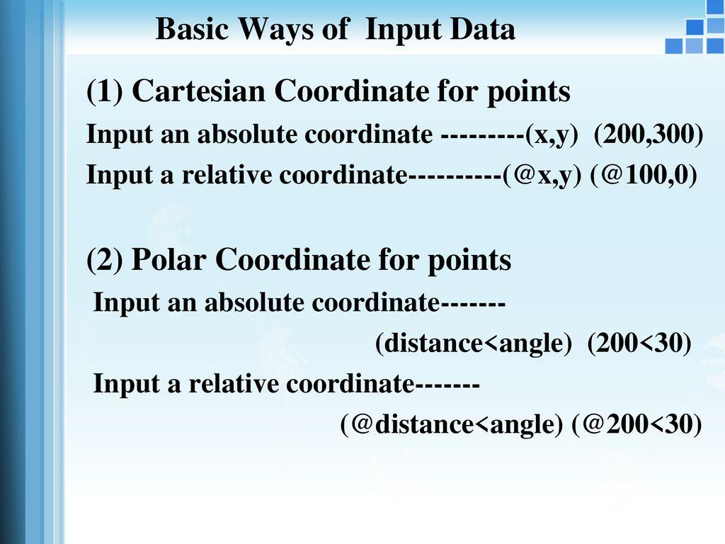 ways to input data