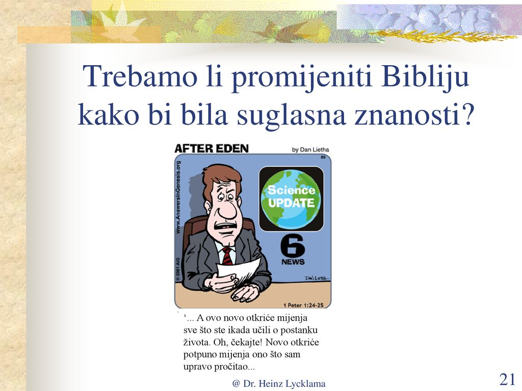 Biblijski standardi za datiranje