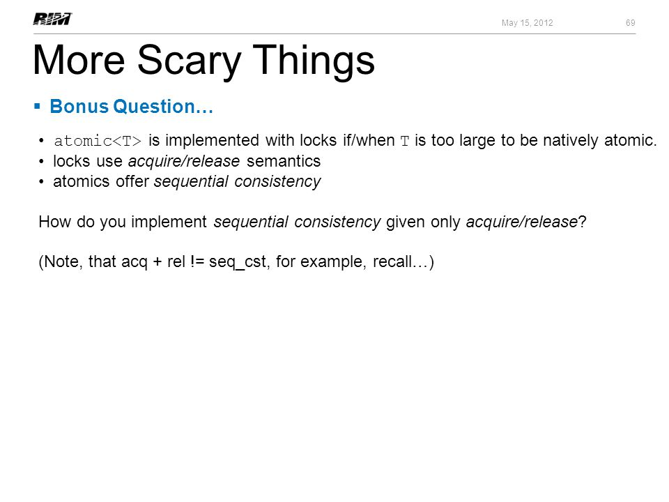 More Scary Things Bonus Question…