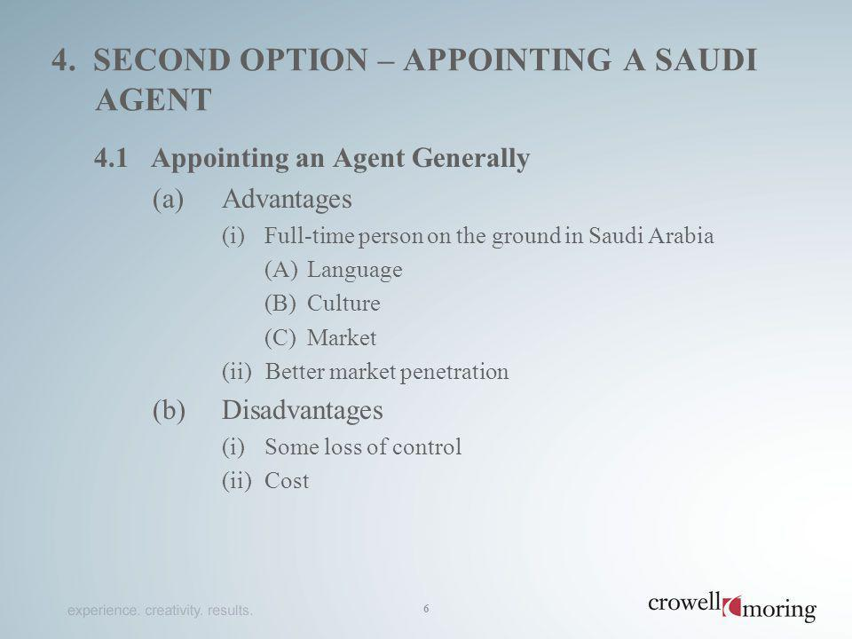 4. second option – appointing a saudi agent