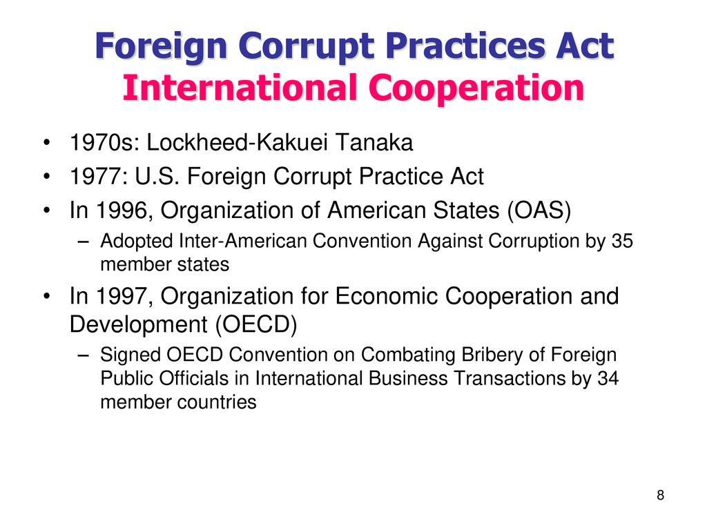 CHAPTER XXVIII FOREIGN CORRUPT PRACTICES ACT & ANTIBOYCOTT