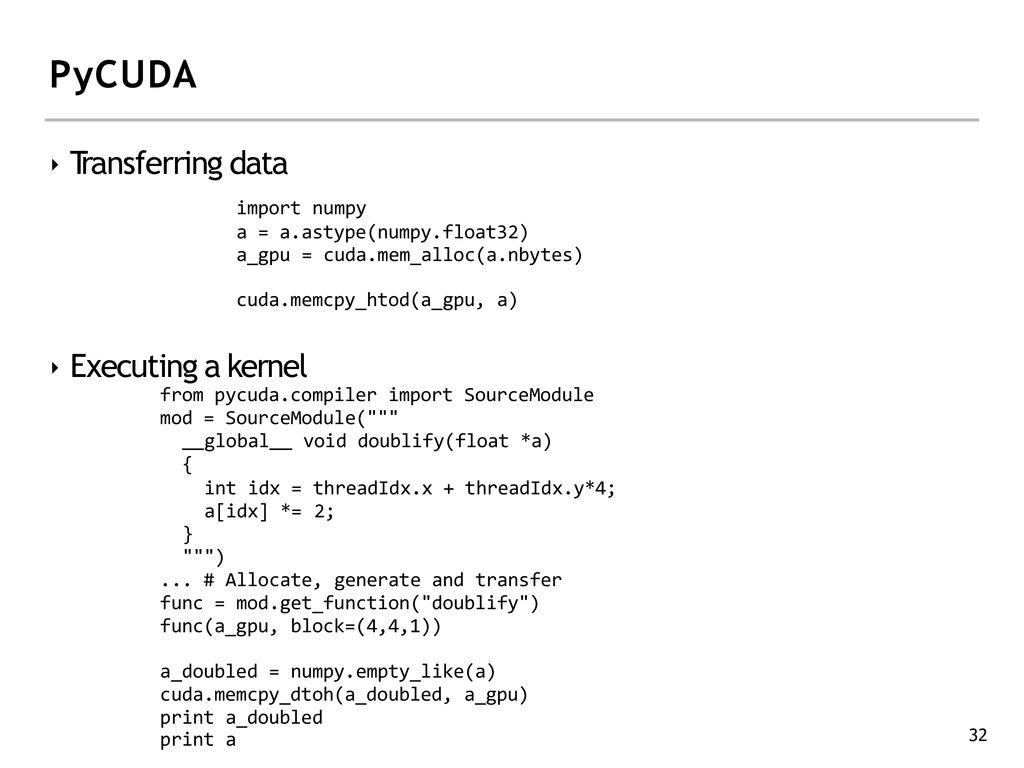 GPU Computing with CUDA Lecture 4 - CUDA Memory & Threads