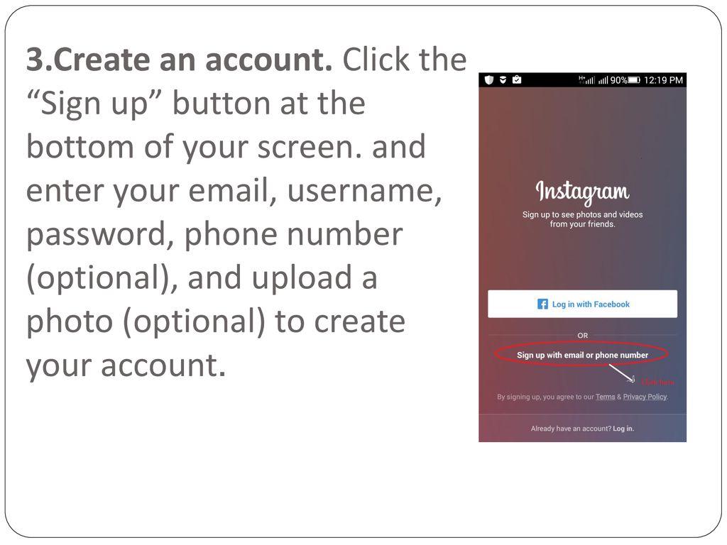 1  Download the Instagram app - ppt download