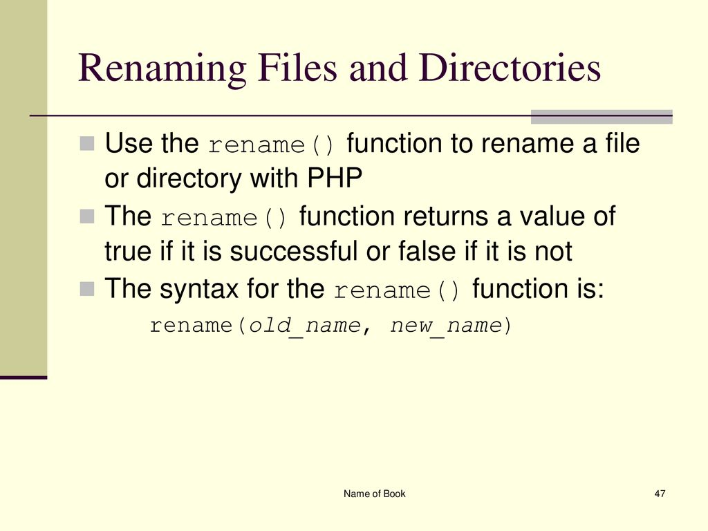 Chapter 4 Working With Files And Directories Php Programming Ppt Download