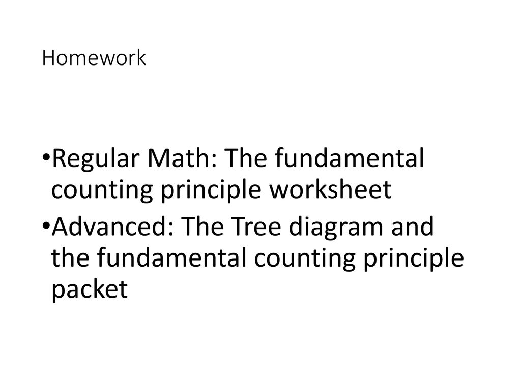Warm- Up #255 Monday, 25/255/2502556 Reflect on your first semester in With Fundamental Counting Principle Worksheet