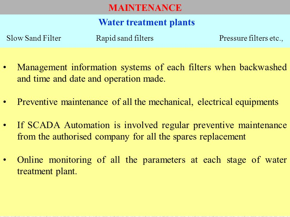 OPERATION AND MAINTENANCE - ppt video online download