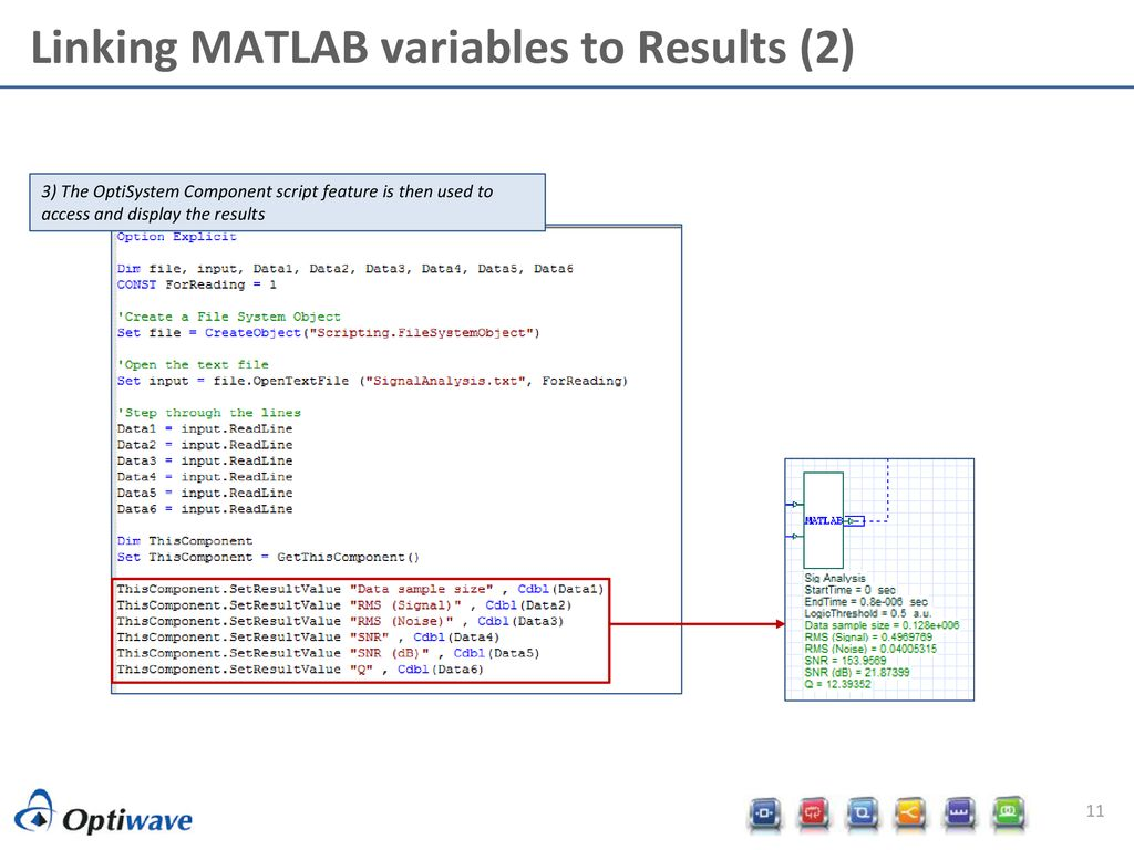 OptiSystem-MATLAB data interchange model and features - ppt download