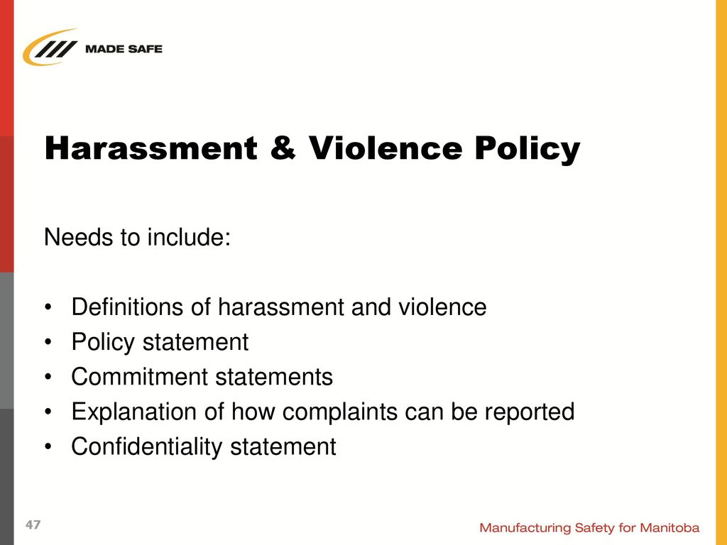 Workplace Harassment & Violence - ppt download