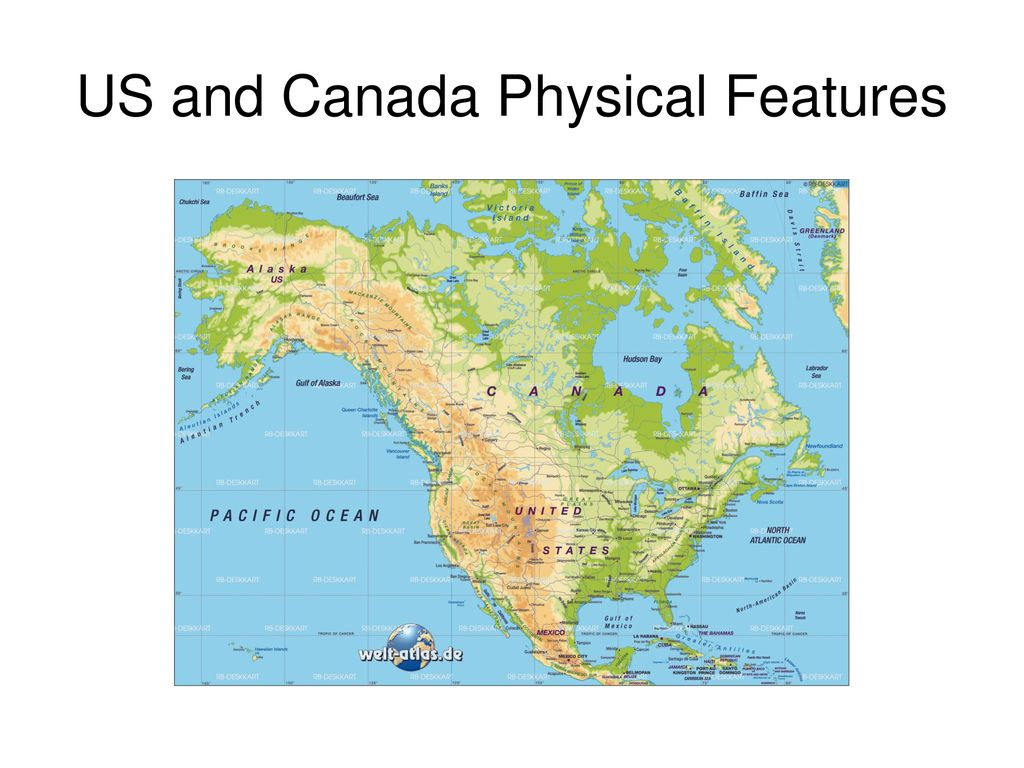 US and Canada Physical Features - ppt download