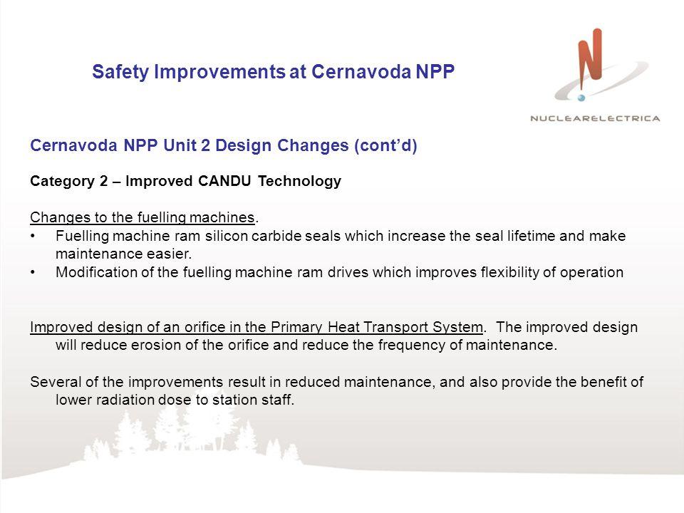 Safety Improvements at Cernavoda NPP Dumitru Dina, Nuclearelectrica