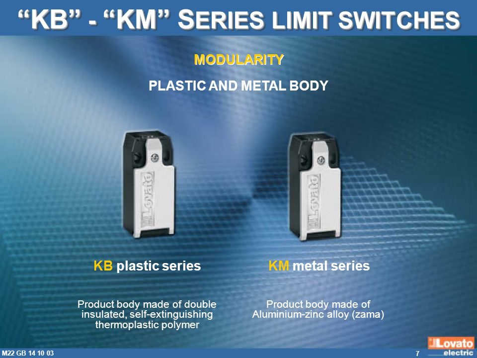 KB - KM SERIES LIMIT SWITCHES