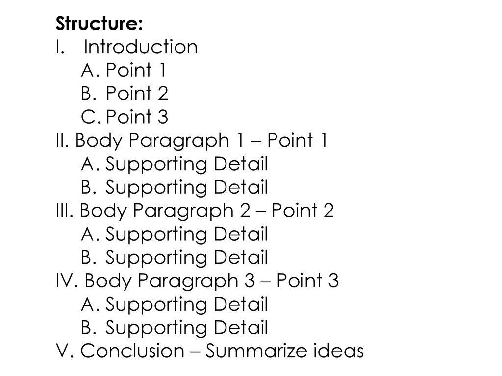 3 point essay