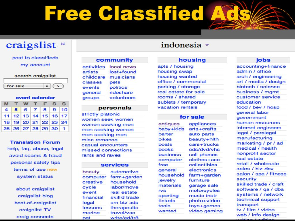 Free Classified Ads  - ppt download