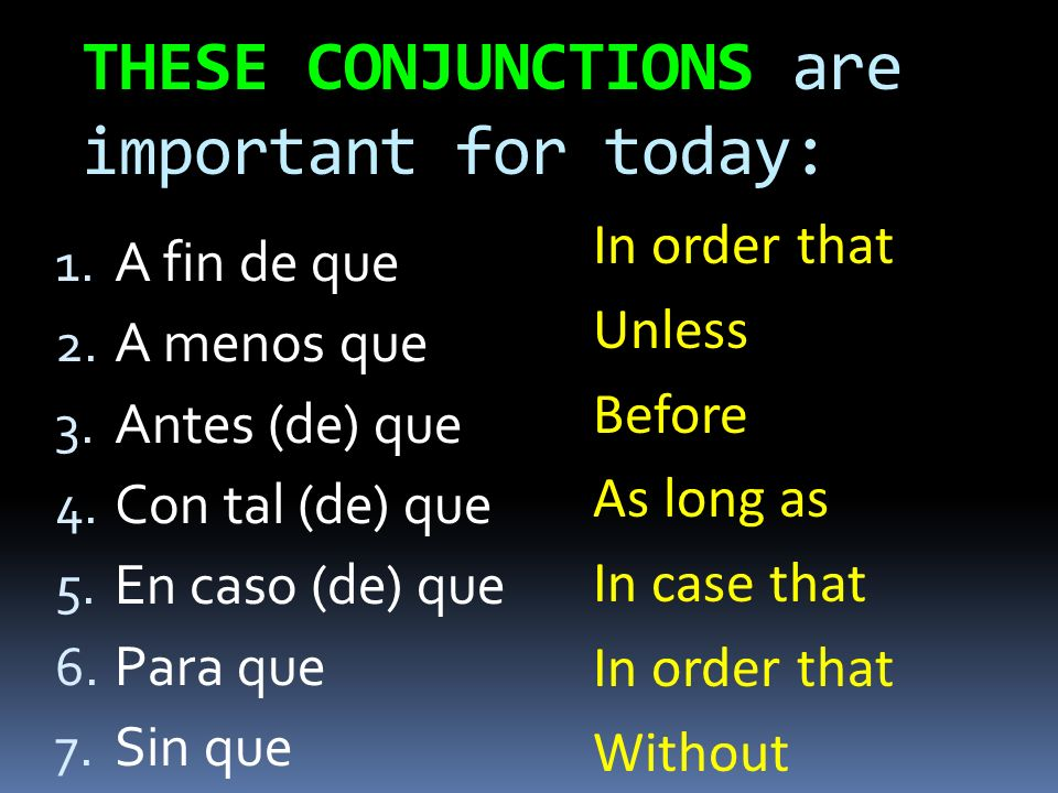 THESE CONJUNCTIONS are important for today: