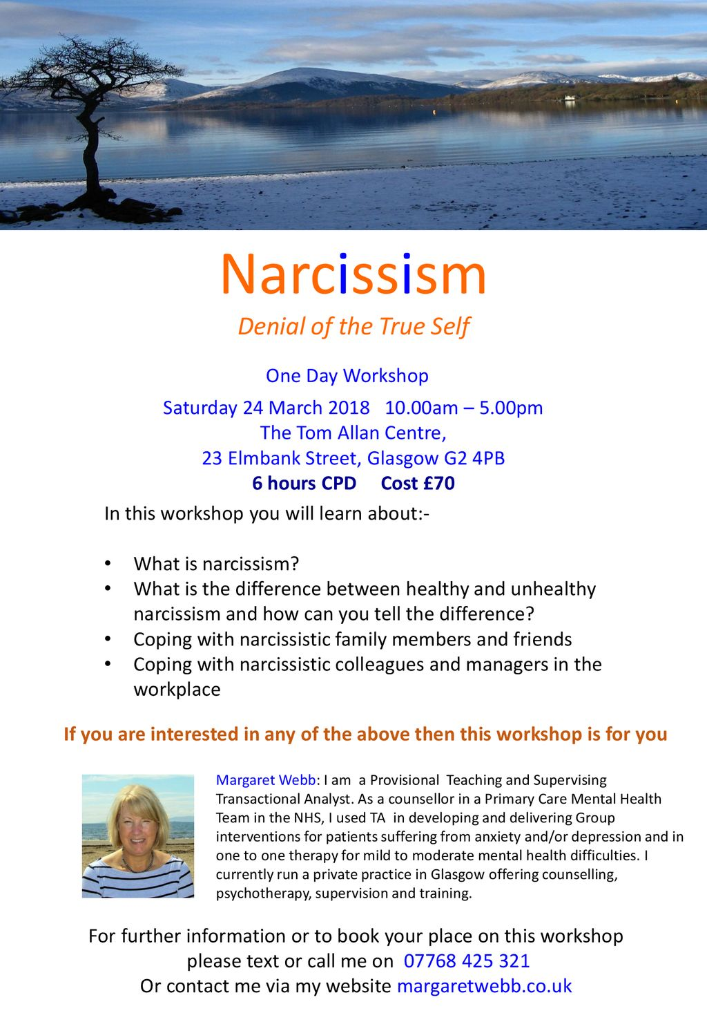 Narcissism Denial of the True Self One Day Workshop - ppt