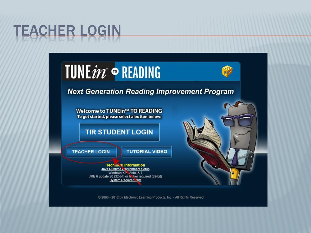 Teacher Tutorial Welcome to the TUNEin to READING - ppt download
