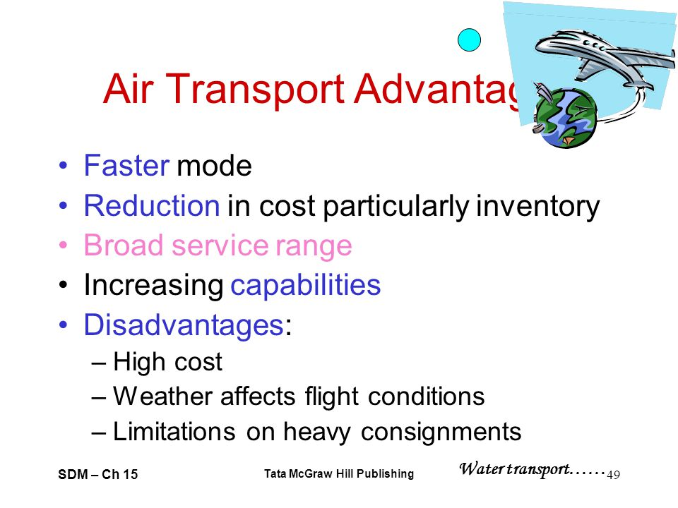 Advantage and disadvantage of air transport Term paper